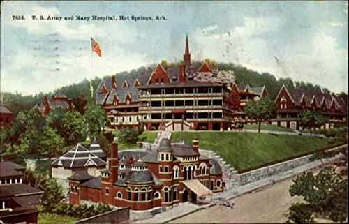 - U.S. Army and Navy Hospital Hot Springs, Arkansas Original Vintage Postcard