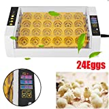 24Eggs Automatic Egg Incubator Turner Chicken Duck Quail Goose Hatcher Heater US