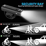 USB Rechargeable Bike Light Set, Runtime 8+ Hours