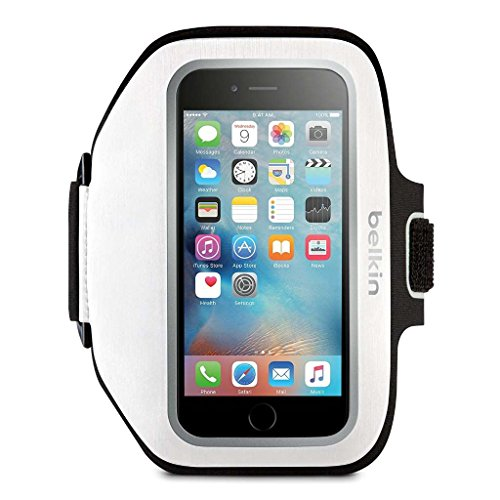 Apple Sports Armband (Belkin Sport-Fit Plus Armband for iPhone 6 Plus / 6S Plus, Fitbit Alta, Fitbit Blaze and Fitbit Charge HR (White))