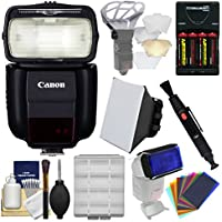 Canon Speedlite 430EX III-RT Flash with Soft Box + Diffuser Bouncer + Color Gels + Batteries & Charger + Kit