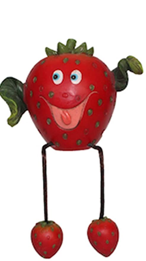 fruit artificial strawberry kitchen shelf sitter decoration decor funny face art piece d89291x - Strawberry Kitchen Decoration