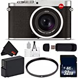6Ave Leica Q (Typ 116) Digital Camera (Silver Anodized) 19022 + 32GB SDHC Class 10 Memory Card + DMW-BLC12 Lithium Ion Battery + 49mm UV Filter + SD Card USB Reader + Deluxe Starter Kit Bundle