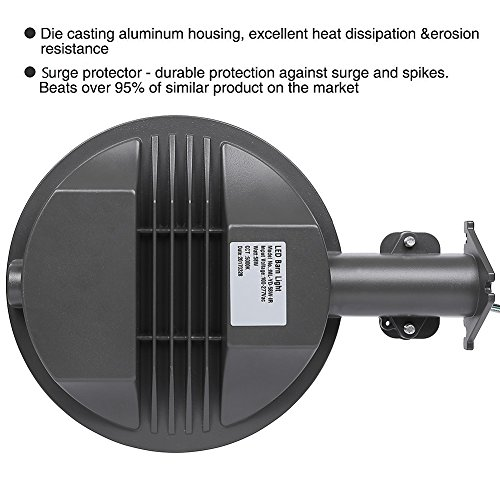 CINTON dusk to dawn led outdoor lighting, LED Barn Light, 58W Area Light Photocell Included, 5000K Daylight, 6400LM, Perfect Yard Light, DLC & ETL Listed, 550W Incandescent or 150W HID light Equivalen by CINOTON (Image #3)
