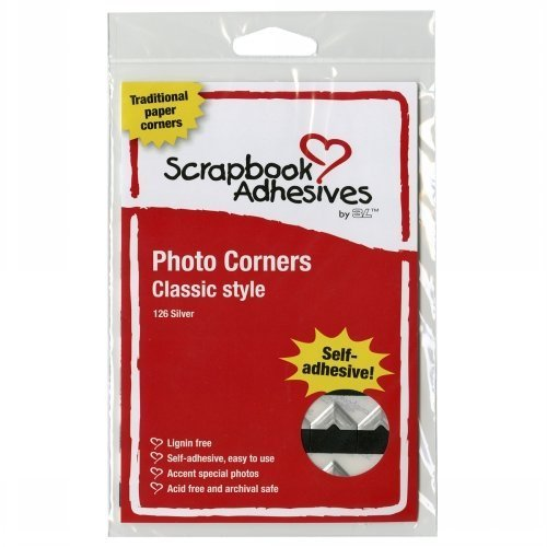 Classic Style Paper Photo Corners .5 Self Adhesive 108/Pkg-Silver by 3L