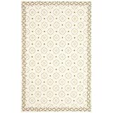 Safavieh Newport Collection NPT443C Hand-Hooked Taupe and Beige Cotton Area Rug (2' x 3')