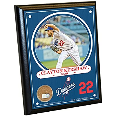 Los Angeles Dodgers Clayton Kershaw 8 Inches By 10 Inches Plaque With Authentic Game Used Dirt From Dodger Stadium