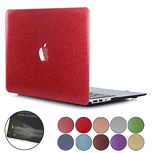 - PapyHall Bling Bling Crystal Rubberized Coated Hard Cover Case Colored Glitter Design Plastic Hard Case for Newest Macbook Pro 13