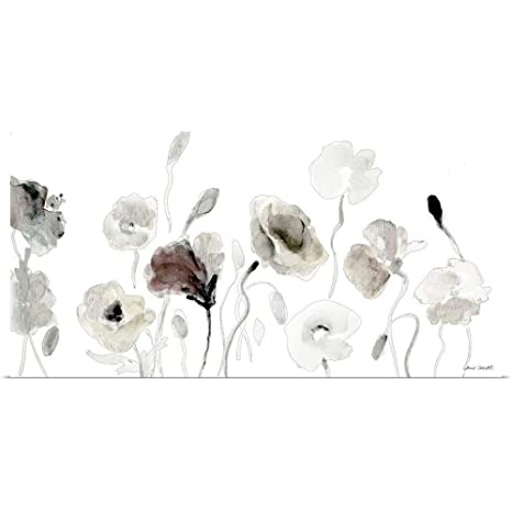 10 x 20 Muted Poppies Poster Print by Lanie Loreth