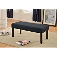 US Pride Furniture BC-1008 Fabric Upholstered Decorative Bench, Dark Grey