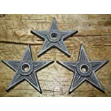 6 Cast Iron Stars Architectural Stress Washer Texas Lone Star Rustic Ranch 4 1//4