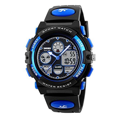 Kids Sports Watch Waterproof Outdoor Digital Wrist Watches for Boy Blue1163