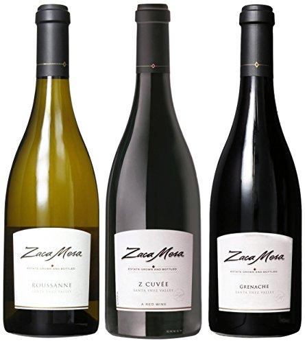Zaca Mesa Winery Santa Barbara Celebrations Gift Pack Wine 3 x 750 mL