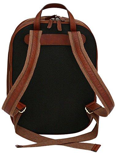 Laptop-Rucksack aus Echtleder - Hergestellt in Italien - Hellbraun Hellbraun FnO1S