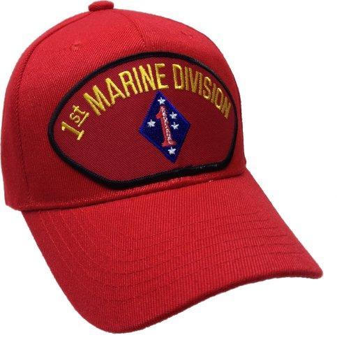 1st First Marine Division Ball Cap Hat Ballcap USMC US Marine Corps (Division Marine Hat)