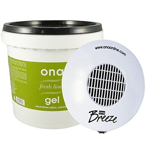 Ona Bundle - Ona Breeze Fan & Fresh Linen 1 Gallon Pail Gel - odor neutralizer by Ona (Image #1)