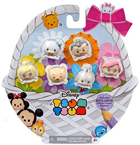 Disney Tsum Tsums Pastel Parade GLITTER Exclusive Set Of 6!