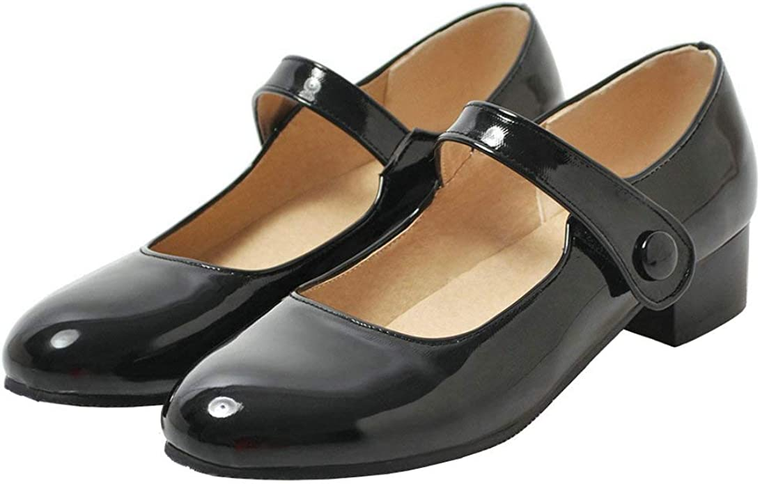 Caradise Womens Low Heel Chunky Mary