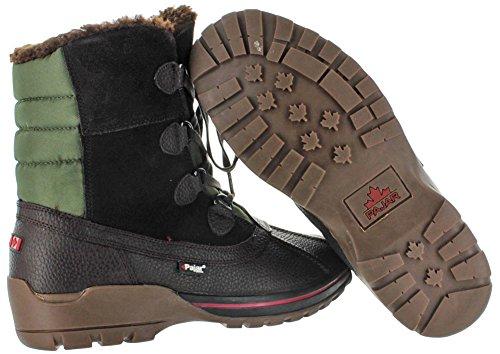 Pajar Banff 2–Botas de nieve de pato chaqueta impermeable forro de lana UK tamaños marrón oscuro
