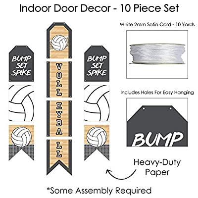 Big Dot of Happiness Bump, Set, Spike - Volleyball - Hanging Vertical Paper Door Banners - Baby Shower or Birthday Party Wall Decoration Kit - Indoor Door Decor: Health & Personal Care