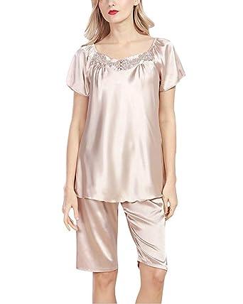Conjunto De Pijama Mujer Tshirt Shorts 2 Pedazos Primavera ...