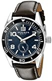 Akribos XXIV Men's AK859BU Round Blue Dial Three Hand Quartz  Strap Watch