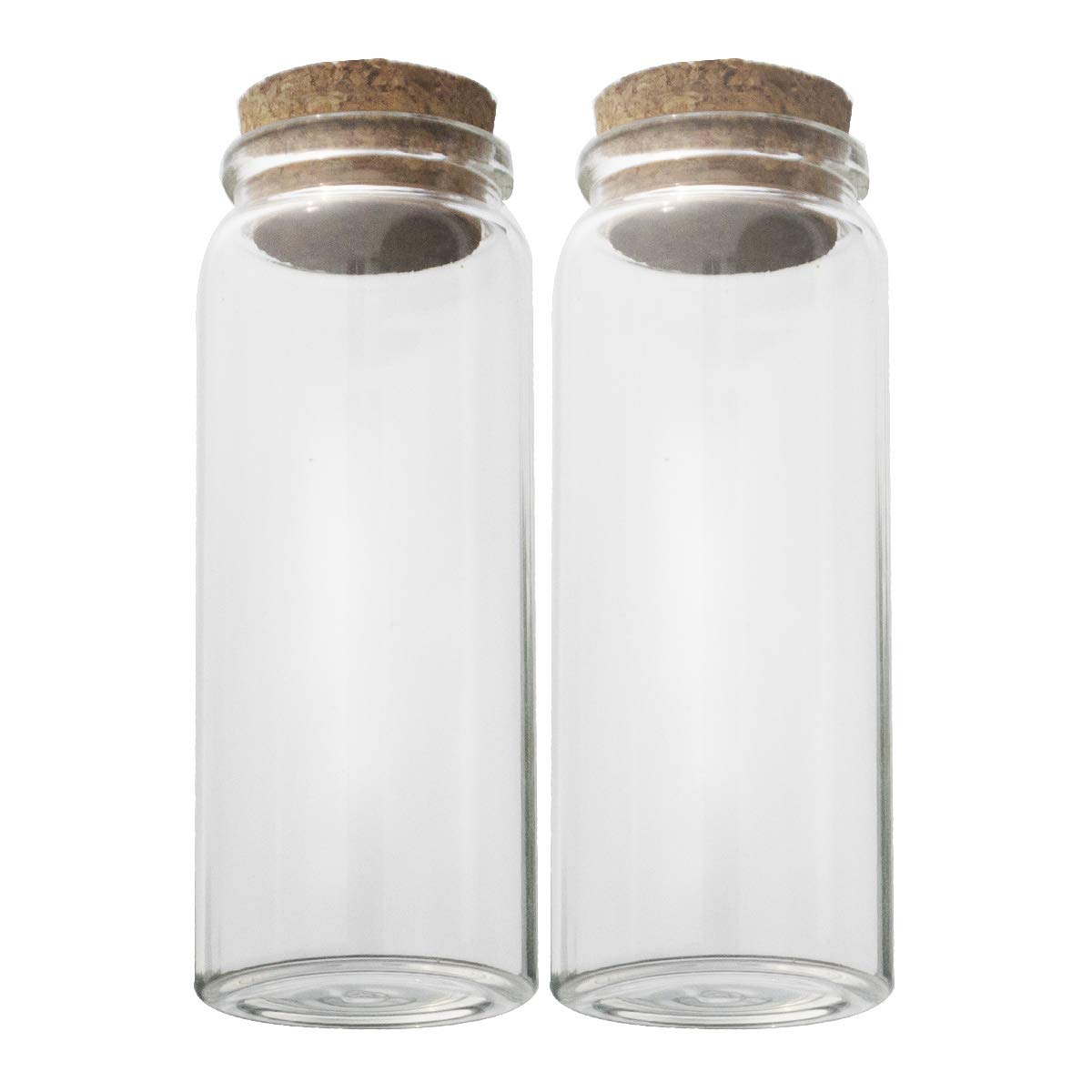 4pcs of 150 ml Empty Clear Glass Bottles Vials With Cork Stopper Storage Jars 47x120mm Bottle 5.3oz by ELYSAID
