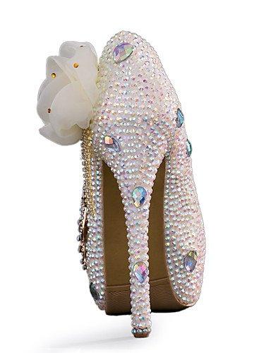 GGX/Damen Schuhe Stiletto Heel Heels Heels Hochzeit/Party & Abend/Kleid Weiß 5in & over-us6.5-7 / eu37 / uk4.5-5 / cn37