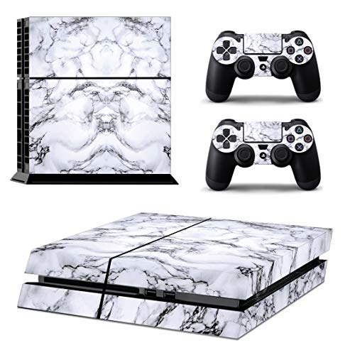 Ps4 Console Skins,Compatible with Playstation 4 Console Skin| ps4 Skins| ps4 Stickers|ps4 Decals|ps4 Skins Console and Controller |Ps4 Cover Skin Vinyl for ps4(ps4 Skin Marble)