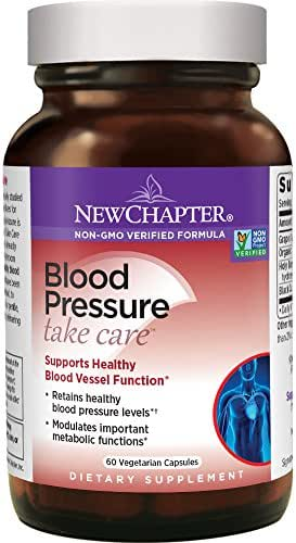 New Chapter Blood Pressure Supplement - Blood Pressure Take Care with Grapeseed + Black Currant + Non-GMO Ingredients for Blood Pressure Support - 60 ct Vegetarian Capsule