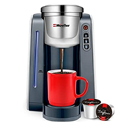 Mueller Ultima Single Serve K-Cup Coffee Maker, Coffee Machine with Five Brew Sizes for Most Single Cup Pods including 1.0 & 2.0 K-Cup Pods, Rapid Brew Technology with Large Removable 45 OZ Water Tank by Mueller Austria