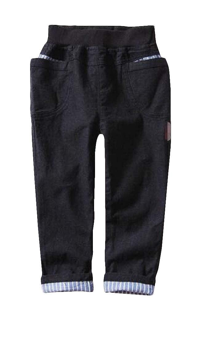 Cromoncent Boys Stylish Elastic-Waist Comfortable Pocket Jogger Pants