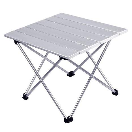 YOMRIC La Mesa Plegable Plegable de Aluminio Enrollable con ...