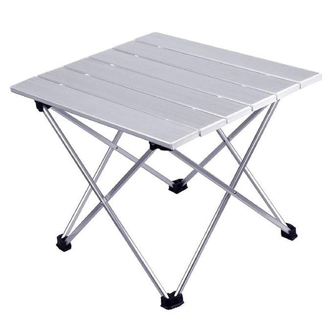 Noodei La Mesa Plegable Plegable de Aluminio Enrollable con una ...