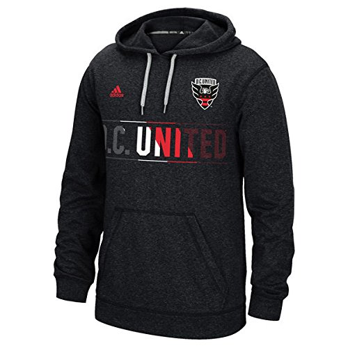 D. C. United Adidas MLS Black Hoodie (Hooded Sweatshirt). Climawarm. Size Men's S (Small)