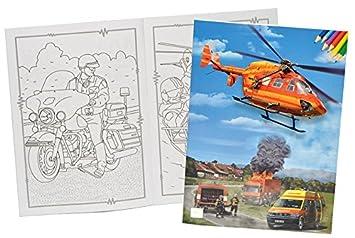 Unbekannt Malbuch A4 Feuerwehr Helikopter Rettungswagen