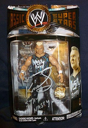 Nasty Boys Brian Knobbs Signed WWE Action Figure COA Knobs Autograph WWF - PSA/DNA Certified - Autographed Wrestling Photos (Signed Action Figures)