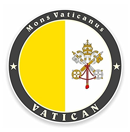 Flag Italy Helmet - 3 Pack - The Vatican Rome Italy Flag Vinyl SELF ADHESIVE STICKER Decal - Sticker Graphic - Construction Toolbox, Hardhat, Lunchbox, Helmet, Mechanic, Luggage