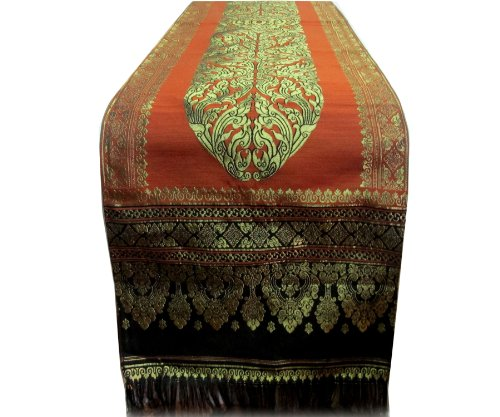 NICE THAI SILK TABLE/BED RUNNER ON SELL WITH COMPLIMENTARY by eThaiComplex