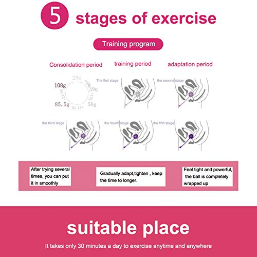 More Ring Bird Kegel Exercise Weights - Doctor Recommended Pelvic Floor Exercises - Set of 6 Premium Silicone Kegel Balls & Control with Training Kit for Women