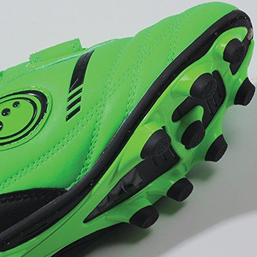 Optimum Tribal - Zapatillas de rugby de sintético para niños Verde (Fluro Green/Black)
