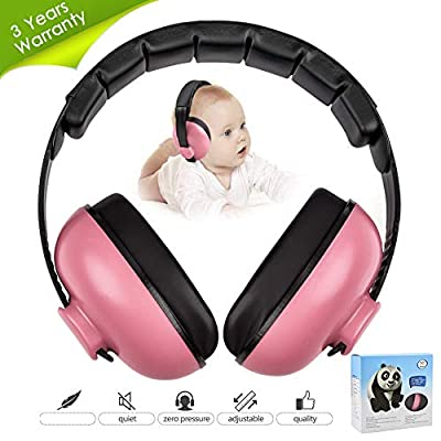 Noise Cancelling Headphones for Kids, Babies Ear Protection Earmuffs Noise Reduction for 0-3 Years Babies, Toddlers, Infant (Redrose)