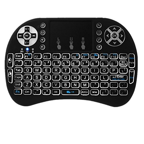 Mini 2.4G Touchpad Remote Control Fit for Wireless Keyboard i8 Air Mouse, for Google Android TV BOX X92 Z4 T96 PC PS3 Gamepad (Black)