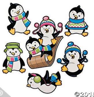 Penguin Party Cutouts(1 -