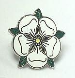 Yorkshire Rose - White rose of york - Quality enamel lapel pin badge