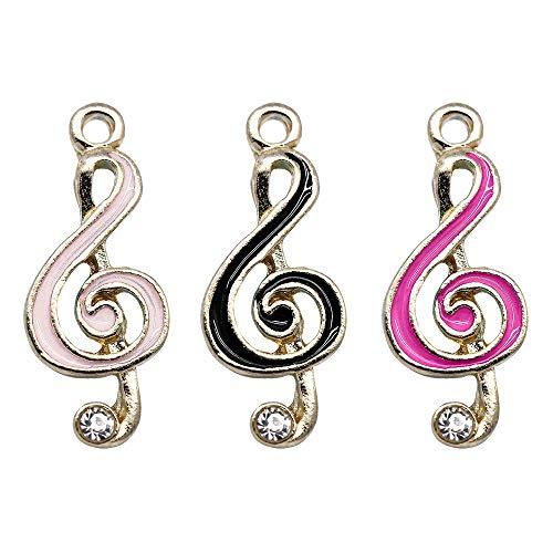M259-E 9pcs New Cute Assorted Little Music Note Bracelet Charms Pendants Wholesale