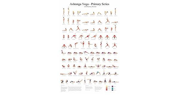 Diseño con motivos geométricos Ashtanga Yoga Asanas Poses ...