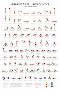 Yoga Asanas Postures Poses Ashtanga Primary Series Poster Chart Wall Hanging Educational Decoration