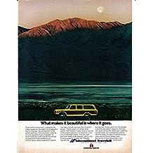 1973 International Harvester- Travelall Station Wagon-Original Magazine Ad