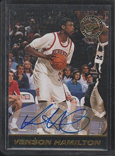 (1999 Press Pass Venson Hamilton Nebraska Autographed Basketball Card #NNO)